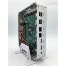 Dual Ethernet Lans Fanless computadora industrial Mini PC Core I5 5257u Iris 6100 3D Gaming PC 4k HTPC Frame