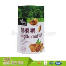 El empaquetado de plástico de la parte inferior redonda modificada para requisitos particulares barato se levanta las bolsas para la comida del bocado
