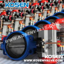 Pneumatic Rubber Lined Butterfly Valve (D671X)