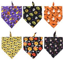 Patrón de impresión ecológico Pañuelo triangular para mascotas Pañuelo