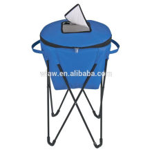 collapsiable Insulated standing cooler bag with metal stand