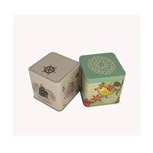 Chinese Square Tea Boîte en étain pour le commerce du thé en gros