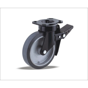 Industrial Heavy Duty Hard Rubber Caster Wheel