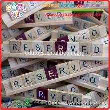 OEM / ODM Disponible Fábrica de China hizo letras juego juguete de madera para niños Juguetes juego