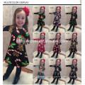 Vestidos de las muchachas de Cothing de los niños impresos coloridos al por mayor coloridos del árbol de navidad en los artículos comunes de la muchacha de los niños de los artículos