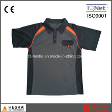 Mens Polyester Elastan Orange Arbeit Polo-Shirt