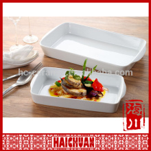Wholesale double lotus rollin porcelain plate