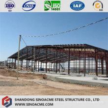 Taller de estructura de estructura de acero combinado con Peb Shed Warehouse