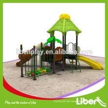 Fashion Design Kunststoff Outdoor Spielplatz Ausrüstung Set für Kinder LE.YG.041