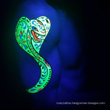 Hot Sale Temporary Night Glow Flourescence Tattoo Sticker