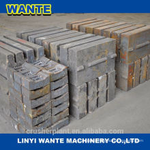 high maganese steel Mn18% Mn14% jaw crusher toggle plate