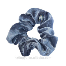 Handmade Accessory synthetic high quality velvet bands wholesale hair Solid Color Narrow Scrunchies