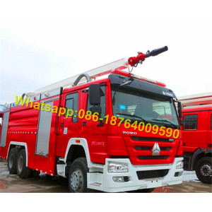 6X4 Water Foam Fire Fighting Tank Truck 12000L