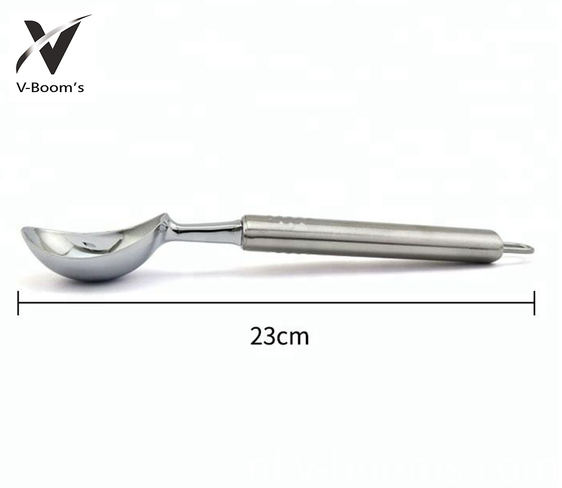 Stainless Steel Aluminum Handle Ice Cream Spoon