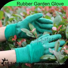 SRSAFETY 100% Хлопчатобумажная застежка-вкладыш трикотажные резиновые перчатки / Перчатка для садоводства