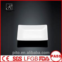 P&T ceramics factory, square saucer dish, porcelain dishes