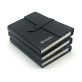Schwarz Nähen Bindung Notebook Custom
