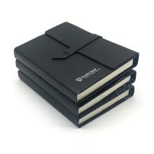 Journal lié en cuir / carnet relié par cuir / couverture en cuir d'ordinateur portable