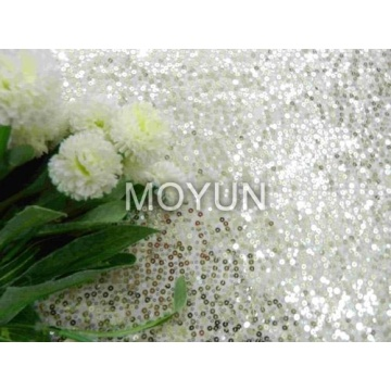 """POLY MESH WITH 3MM +5MM SEQUIN EMBD 50/52"""""""