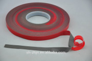 Double sided grey white clear VHB acrylic foam tape with red poly film liner