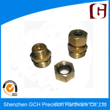High Precision CNC Screw Rod Part Brass Machining