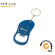 Porte-clés ouvre-bouteille en métal, décapsuleur bleu pour cadeau (K03032)