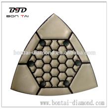 6 agujeros triángulo de pulido seco para mármol y granito