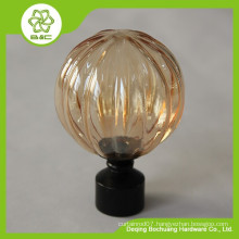 Acrylic curtain rod finial , cheap curtain rod finial