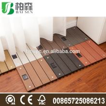 waterproof composite decking Quick and easy decking WPC solar interlocking composite deck tiles