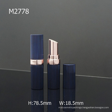 Elegant Royalblue Round Plastic Empty Custom Lipstick Packaging