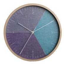 Bent wood wall clock with simple modern design