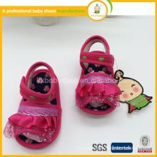 2015 Meninos Sapatos Atrancados Venda Flor Bordado Gancho e Loop Bebé Eva Summer Canvas Moda Baby Girl Princess Shoe