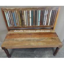 Banco de madeira reciclado