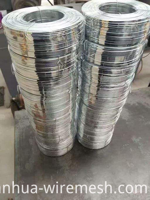 High carbon 5.0mm diameter galvanized steel flat wire