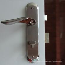 Fabriqué en Chine Serrure à levier de porte d'entrée à clé cylindrique en acier inoxydable