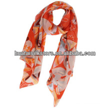 Китайский опт Печать длинный шелковый шифон шарф