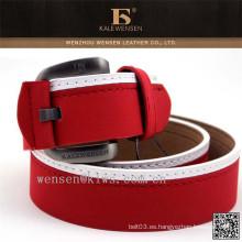 Cinturón auténtico genuino hecho a mano por encargo de la PU