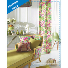 Linen Ink Print Window Curtain