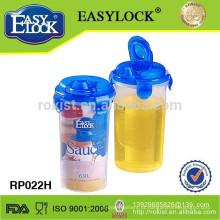 garrafa de óleo de plástico de derramamento