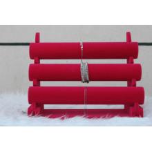 Красные полы Бархатные часы Bangle Display Стенд Пзготовителей
