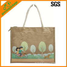 promotional eco jute shopping bag factory