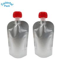 Bolso de empaquetado de la bebida del material laminado del aluminio Bolsa del canalón para la bebida Jugo líquido Café con leche