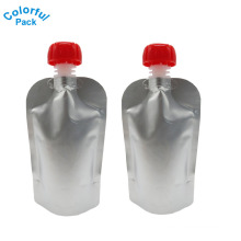 Aluminum Laminated material Drink Packaging Bag Spout Pouch for Beverage Liquid Juice Milk Coffee