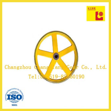 Malerei Sprühen China Gusseisen Doppel Roller Ketten Kettenrad Rad