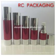 20ml / 25ml / 30ml / 40ml / 50ml bouteille sans air, bouteille sans cosmétiques en aluminium