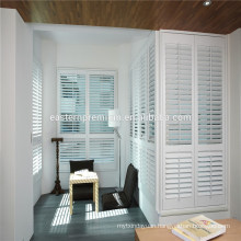 PVC with aluminum insert Plantation Window Adjustable Louvre Shutters