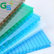 10Mm Multiwall Polycarbonate Hollow Sheet Wall Decoration Material Greenhouse Roofing Plastic Sheet