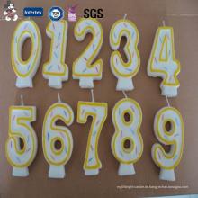 Direktverkauf neu gestaltete verschiedene Modell Doppelschicht Hersteller von Geburtstagskerze