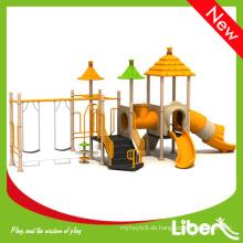 Beliebte Kinder Outdoor Spielstruktur mit Rutschen und Schaukeln in Kindergarten