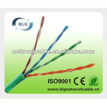Cat5e utp lan cable cca или cu 23 awg 24awg 26awg fr pvc / lszh jacket rohs Шэньчжэнь производитель